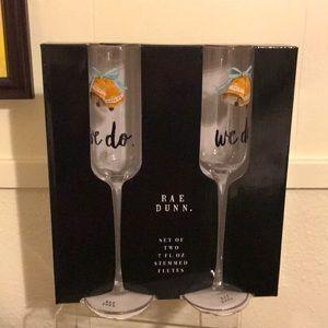 Rae Dunn champagne glasses